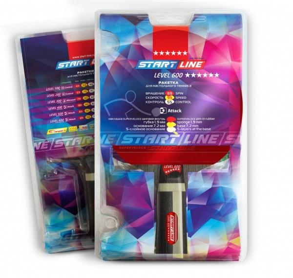 Ракетка для настольного тенниса Start Line™ Level 600 анатомическая ... 1f1b1bfc5e5e0